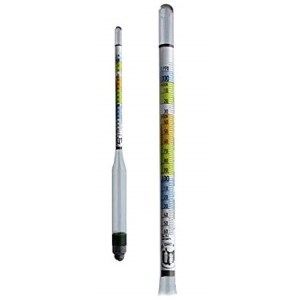 Hydrometer - Triple Scale Hydrometer for Home Brewing - Beer and Wine