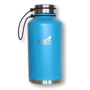 Yukon Growlers Insulated Beer Growler - Keep Your Beer Cold and Carbonated for 24 Hours in This Stainless Steel Vacuum Water Bottle - Also Keeps Coffee Hot - Improved Lid - 64 oz
