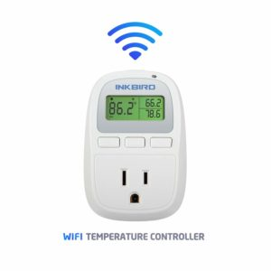 Inkbird C929 Smart Digital WiFi Temperature Controller 120VAC 1200W, Heater/Cooler Thermostat, Homebrewing, Reptiles, Terrarium, Greenhouse, Heat Mat
