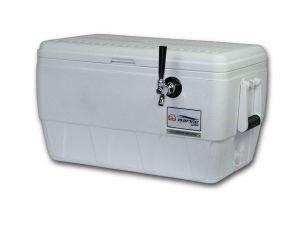 "Coldbreak Brewing Equipment CBJB48QT1T Jockey Box, 1 Tap, Marine Pass Through, 48 Quart Cooler, 50' Coil, 0.25"" ID, 0.3125"" OD, Stainless Steel, White"