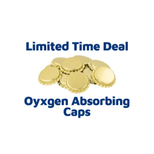 Gold Oxygen Absorbing Bottle Caps (100 Caps)