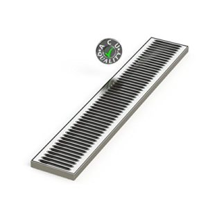"""ACU Precision Sheet Metal 0100-30 5"""" x 30"""" x 3/4 Surface Mount Drip Tray - No Drain - Stainless Steel # 4 Brushed Finish, 0.75"""" Height, 5"""" Width, 30"""" Length"""