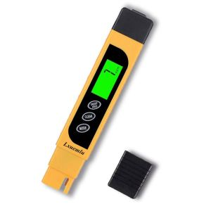 TDS Meter Digital Water Tester, Lxuemlu 3-in-1 TDS, Temperature and EC Meter with Carrying Case, 0-9999ppm, Ideal ppm Meter for Drinking Water, Aquariums and More