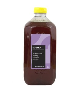 Amazon Brand - Solimo Wildflower Honey, 5 pounds
