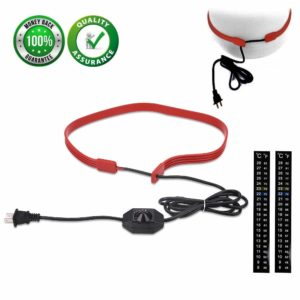 Fermentation Heating Belt,10V-230V /35W Heater Strip Pipe for Home Brew, Wine Beer Spirits, Coffe, Tea, Water, with Power Dial and 2 Pcs Thermometer Strip