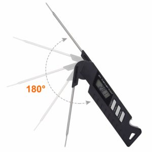 Eternal Home Digital Meat Thermometer, IP67 Waterproof Instant Read Thermometer LCD Backlit Display BBQ Thermometer for BBQ Food Meat Cooking (Upgraded Version)