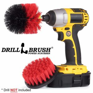 Farm - Horse - Barn - Outdoor - Cleaning Supplies - Drill Brush - Stiff Bristle Scrubber Kit for - Rubber Mat - Water Trough - Feed Buckets -Concrete - Stone - Brick - Spin Brush - Concrete Pools