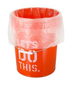 5 Gallon Bucket Liner Bags for Marinading and Brining - Durable, Food Grade, BPA Free, 25/Roll