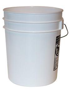 5 Gallon Heavy Duty White Plastic Bucket, 10-Pack - Argee RG5700/10