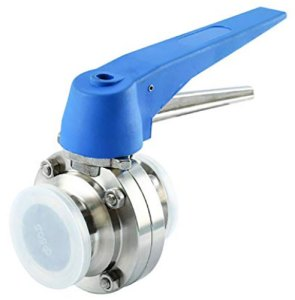 "1.5"" Sanitary Tri-Clamp Butterfly Valve with Trigger Handle"