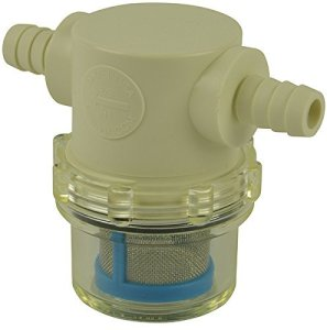 """3/8"""" Hose Barb In-Line Strainer with 50 mesh stainless steel filter screen"""