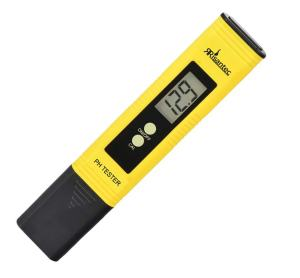 Risantec Digital PH Meter Tester Best For Water Aquarium Pool Hot Tub Hydroponics Wine - Push Button Calibration Resolution .01 / High Accuracy +/- .05 - Large LCD Display