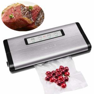 Crenova VS100S Vacuum Sealer Food Sealer Saver Machine + 1 Vacuum Roll + 10 pcs Vacuum Bags