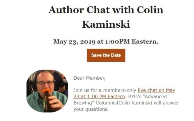 Author Chat with Colin Kaminski
