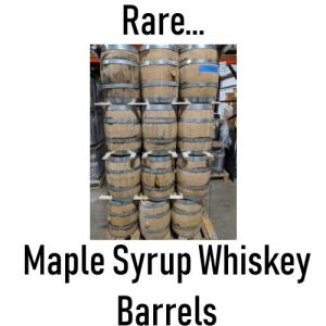 used maple syrup whiskey barrels