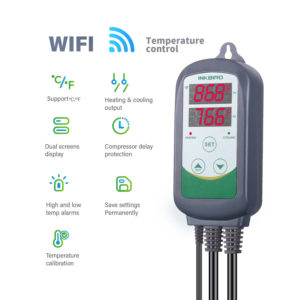 Inkbird ITC-308 WIFI Pre-wired Digital Temperature Controller Thermostat 2-stage 1100w w/Sensor