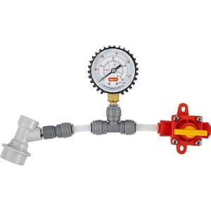 Kegland BlowTie Diaphragm Spunding Valve - Adjustable Pressure Relief Gauge Ball