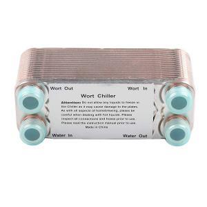 "Ferroday 30 Plate Wort Chiller Stainless Steel Brazed Plate Heat Exchanger 3/4 NPT Thread Plate Chiller(7.5"" x 3.15"")"