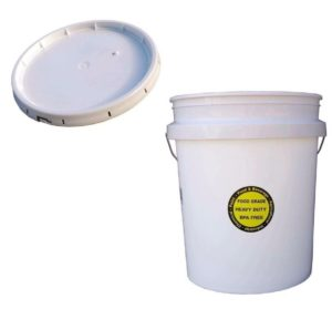 5-GALLON WHITE ALL PURPOSE Durable Commercial Food Grade Bucket With LID