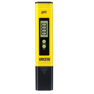 URCERI Digital PH Meter, PH Meter 0.01pH High Accuracy, Water Quality Tester with 0-14pH Measurement Range