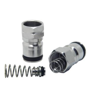 "Ball Lock Post&Poppet - LUCKEG Brand Stainless Steel Material Cornelius keg posts Size 19/32""-18 Female Thread Gas&Liquid for Corny Type Keg"