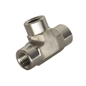"""HFS (R) TEE Fitting - Female FNPT 3-Way Tee Stainless (1/4"""" Female NPT)"""