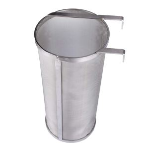 Outamateur 300 Micron Filter Stainless Steel Mesh Dry Hopper Brewing Filter Tea Kettle Brew Filter for Homebrew of Beer Wine Coffee (6 x 13.8)