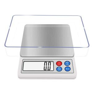 Gram Scale Digital Kitchen Scale NEXT-SHINE High-precision Pocket Mini Muti-functional Pro Scale with LCD Display, Tare, PCS, Back-lit, 600g