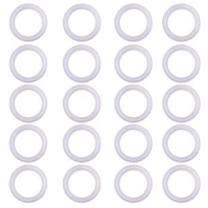"DERNORD Silicone Gasket Tri-Clover (Tri-clamp) O-Ring Pack of 20 (1.5"" Tri clamp Size: OD: 50.5mm, ID: 34mm)"