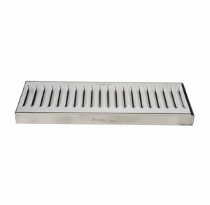 "Krome Dispense C606 Stainless Steel Drip Tray Surface, No Drain, 12"" x 5"", 1.2 mm Solid Construction"