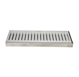 """Krome Dispense C606 Stainless Steel Drip Tray Surface, No Drain, 12"""" x 5"""", 1.2 mm Solid Construction"""