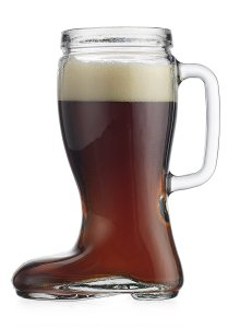 Recycled Glass Oktoberfest Style 23 Oz Handled Pitcher Drinking Beer Boot Das Boot