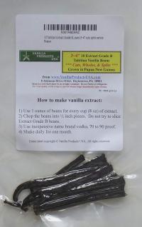 Vanilla Beans 10 Tahitian Extract Grade B 3~4 inches, cuts splits whole by Vanilla Products USA
