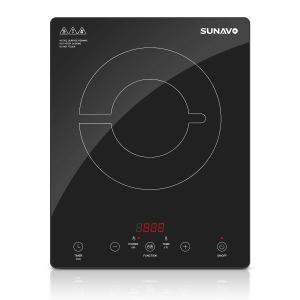 SUNAVO Induction Cooktop Portable Countertop Burner 1800W with Timer and 15 Temperature Power Setting CB-I11