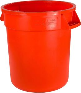 Carlisle 34101024 Bronco Round Waste Container Only, 10 Gallon, Orange