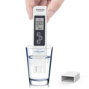 TDS Meter Digital Water Tester, Membrane Solutions, TDS Meter, EC Meter & Temperature Meter 3 in 1, 0-9999 ppm Measurement Range, with ATC,Ideal Water Test Meter for Drinking Water, Aquariums, etc.