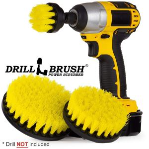 Cleaning Supplies - Drill Brush - Bathroom Accessories - Shower Curtain - Bath Mat - Scrub Brush - Bathtub - Sink - Toilet - Bidet - Flooring - Grout Cleaner - Spin Brush - Bathroom Cleaner