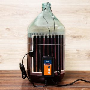 Kenley Fermentation Carboy Heater with Thermostat - Kombucha Heating Kit - Home Brewing Heat Strip Belt Wrap Brew Warmer Warming Pad with Temperature Controller - Works with any Vessel up to 8 Gallons