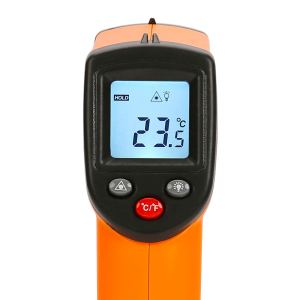 HDE Non-Contact Infrared Thermometer Digital Laser Surface Temperature Gun with Backlit LCD Display - Range -58°F - 716°F (-50°C - 380°C)