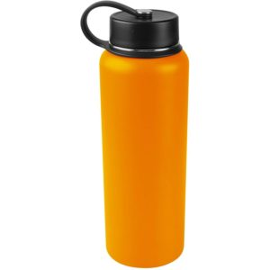 Tahoe Trails 40 oz Double Wall Vacuum Insulated Stainless Steel Water Bottle, Orange