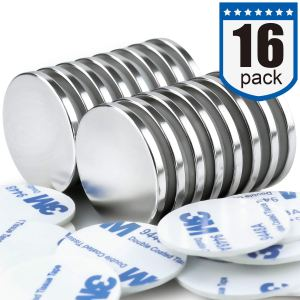 DIYMAG Powerful Neodymium Disc Magnets, Strong, Permanent, Rare Earth Magnets. Fridge, DIY, Building, Scientific, Craft, and Office Magnets, 1.26 inch x 1/8 inch,16 Pack