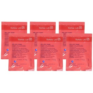 Safale US-05 (Six Packages, 11.5 g ea)