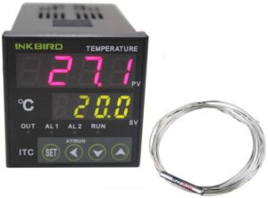 Inkbird Digital PID Temperature Controller Position Control Thermostat AC 100 to 240V ITC-100RH with PT100 Thermocouple
