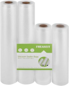 FREASEIT Vacuum Sealer Bag Rolls for Food, BPA Free Heavy Duty Plastic Sealer Vacuum Packing Bags for Foodsaver