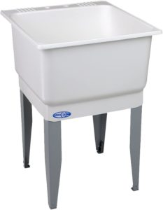 Mustee 14 Utilatub Laundry Tub Floor Mount, 25-Inch x 23-Inch, White