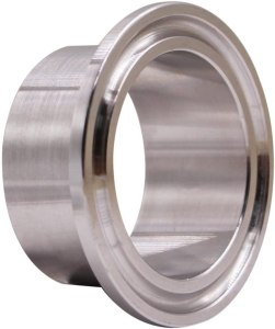 "DERNORD Stainless Steel 304 Sanitary Fitting, Long Weld Clamp Ferrule Fits Tri Clamp 1-1/2"" Tube Outer Diameter"