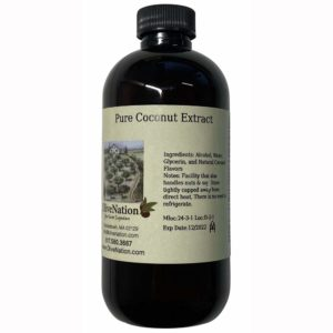 OliveNation Pure Coconut Extract 4 oz, 4 Ounce