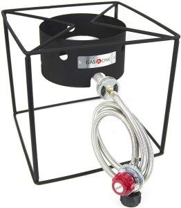 GasOne B-5100 Simplicity Compact Burner-Camp Stove Gas Cooker with High Pressure Propane Regulator