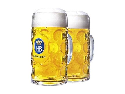Hofbrauhaus Signature Dimpled Stein - 0.5 Liter - Set of 2