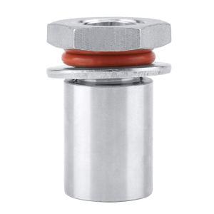 """Aufee Weldless Bulkhead Fitting, 1/2"""" Stainless Steel Sturdy Durable Homebrew Weldless Bulkhead Fitting for Kettle Keg"""